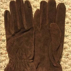 ISOTONER ARIS Suede Leather Brown Sz M Gloves NEW